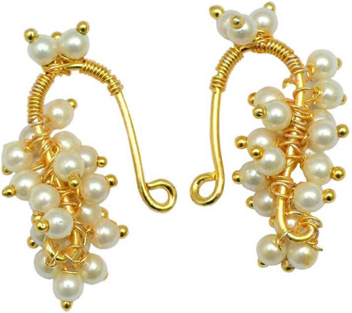 741b63873 Flipkart.com - Buy LoveGold Bugadi Marathi Helix Earring Pearl Alloy ...