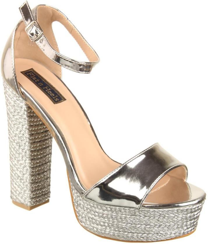 Flat n Heels Women Silver Heels - Buy
