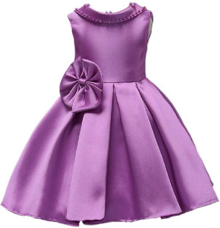 f96751d670 MANNAT FAHION Girls Maxi/Full Length Festive/Wedding Dress (Purple,  Sleeveless)