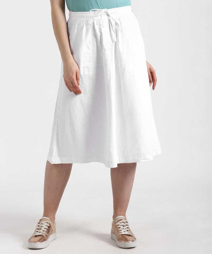 bd072b2ef2 MARKS & SPENCER Solid Women A-line White Skirt - Buy MARKS & SPENCER ...