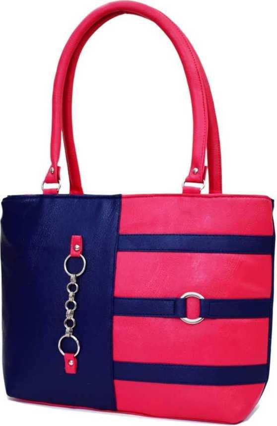 b7a7bcdacd5 Buy SIRISHA Women Pink, Blue Hand-held Bag PINK Online @ Best Price in  India   Flipkart.com