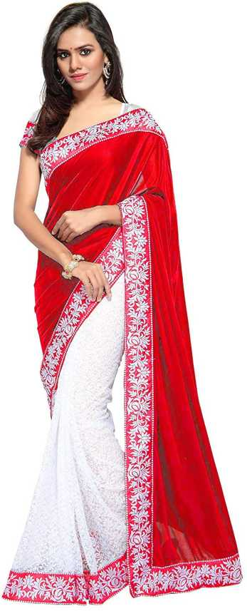 921366a85738f Buy Online Cloth Khazana Solid Fashion Net, Velvet Red Sarees Online @ Best  Price In India | Flipkart.com