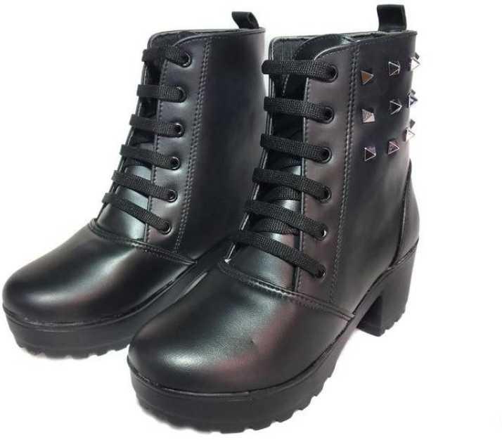 buy online 81f15 c938f FARHA FOOTWEAR Hunter High heel Boot Boots For Women - Buy ...