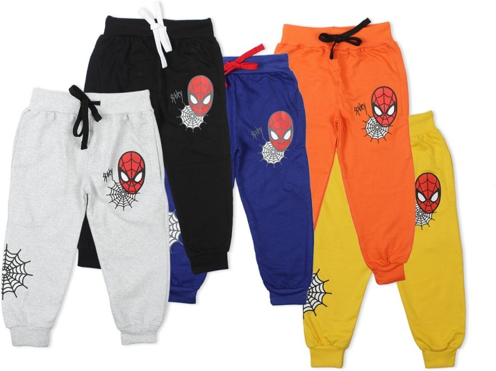 Boys Girls Pants Toddlers Cotton Track Pant Joggers-Pack Of 3