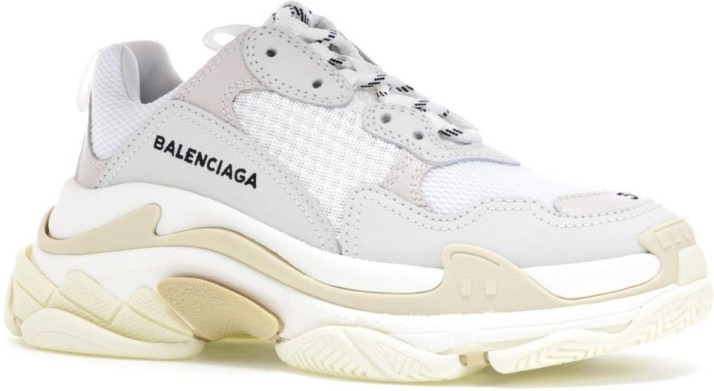 Balenciaga Synthetic Triple S Trainers in White Navy White