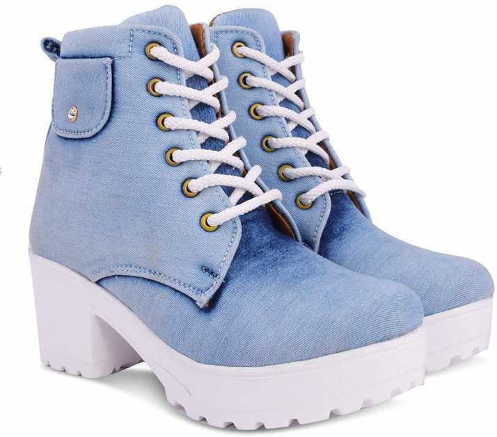 69d18526fe0 Krafter High Ankle Denim Boots For Womens And girls Sneakers For Women