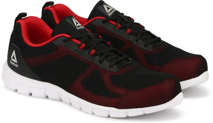 reebok shoes red black
