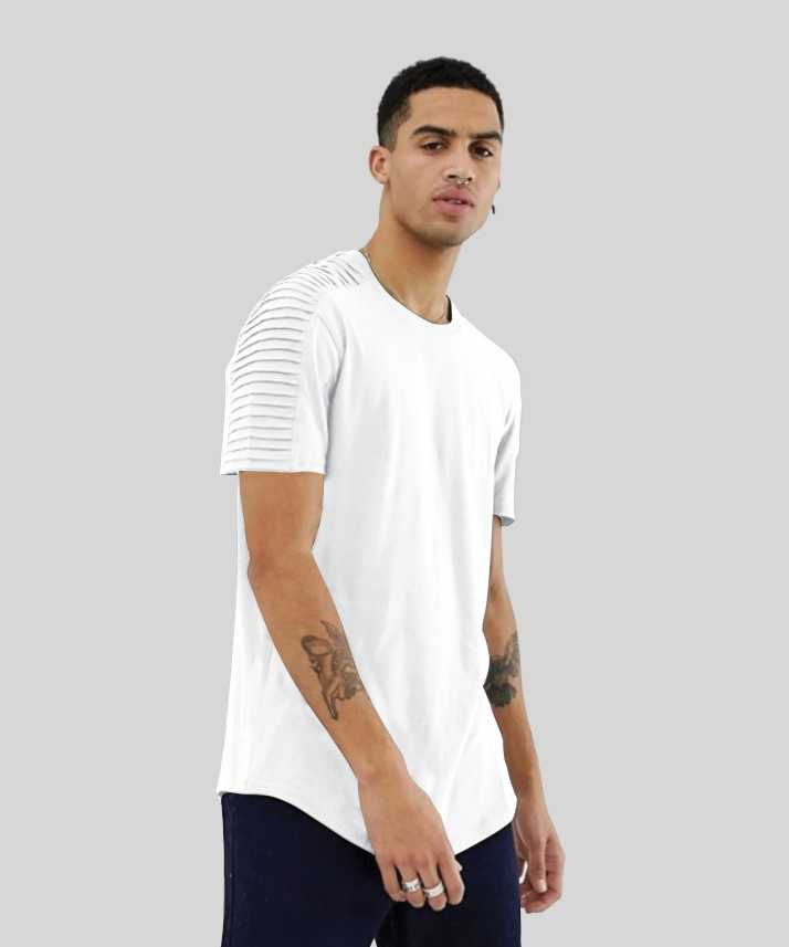 426449a0aa34 Just dress better Solid Men Round Neck White T-Shirt - Buy Just ...