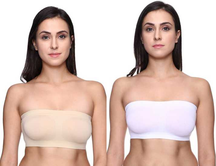 b1fef93248f ChiYa byNon-Wired Seamless-Free Size-Tube Bra for Women (Combo of two)  Girls