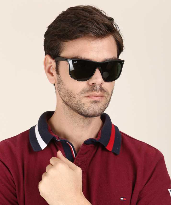 6ec82735f Buy Ray-Ban Wayfarer Sunglasses Blue For Men Online @ Best Prices in ...