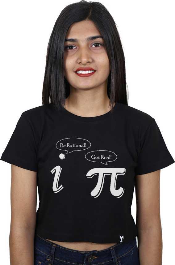 5ac71f6db2 ItkiUtki Casual Half Sleeve Graphic Print Women Black Top - Buy ...