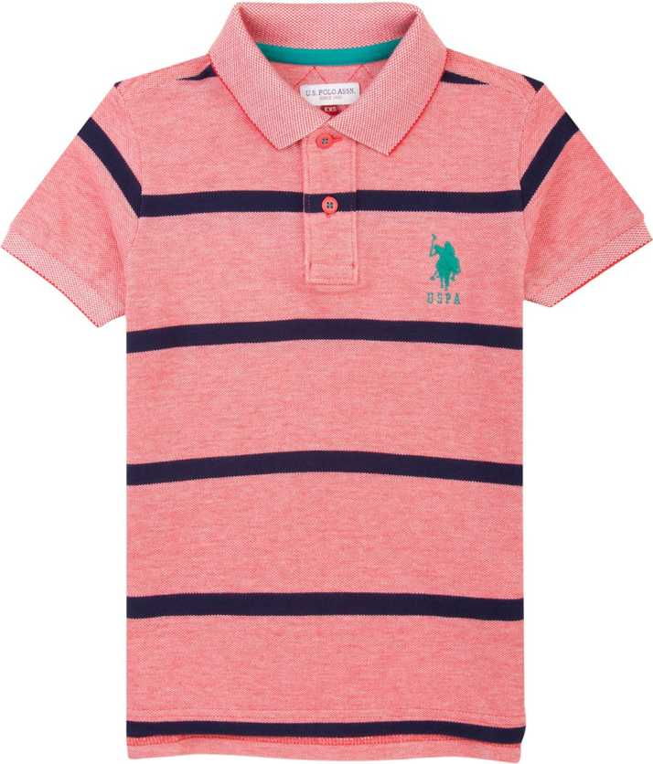 4dfc766a0d U.S. Polo Assn. Boys Striped Cotton Blend T Shirt Price in India - Buy ...