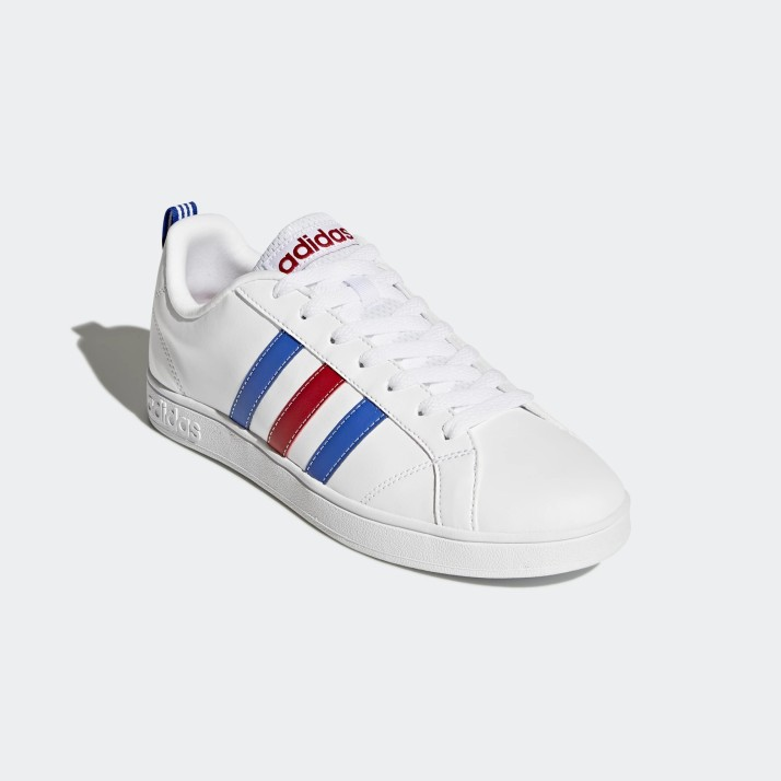 adidas white with blue and red stripes cheap online