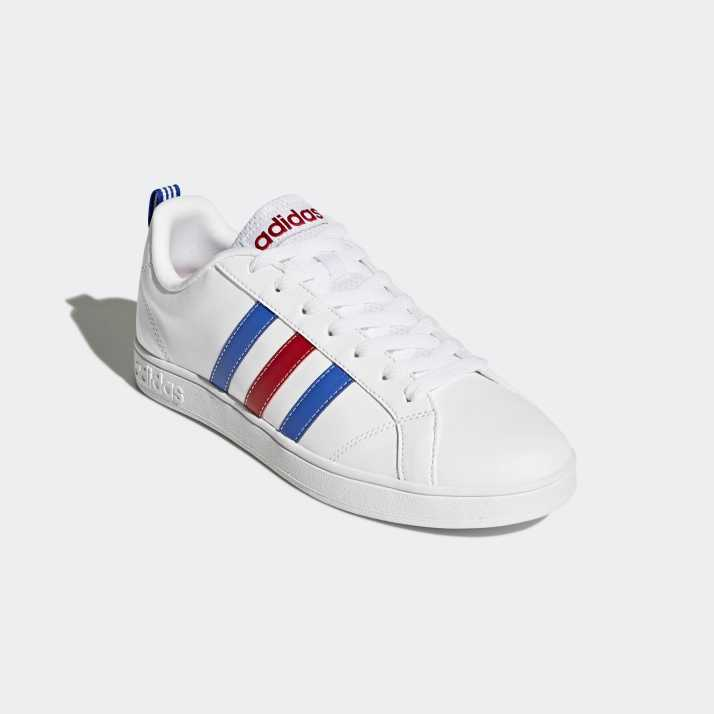 blue and white shoes adidas