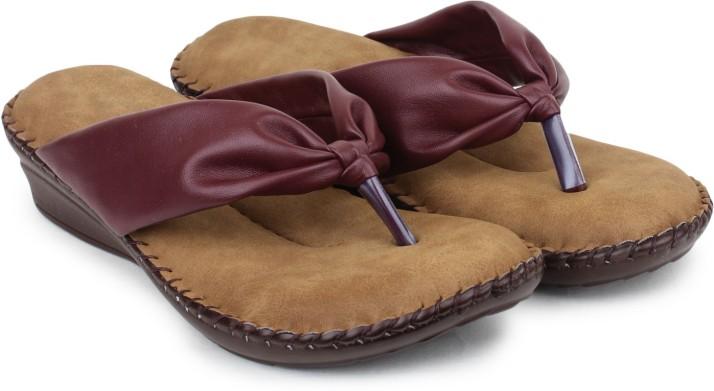 Doctor Soft Women Maroon Flats - Buy