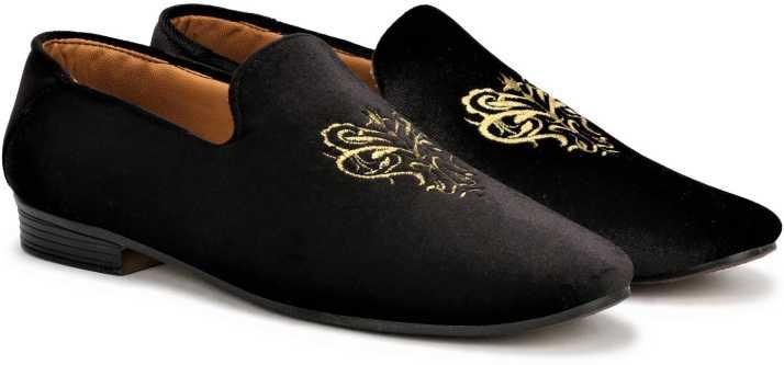 LONDON SOLE black velvet party wear bellies loafers for men boys Loafers  For Men - Buy LONDON SOLE black velvet party wear bellies loafers for men boys  Loafers For Men Online at