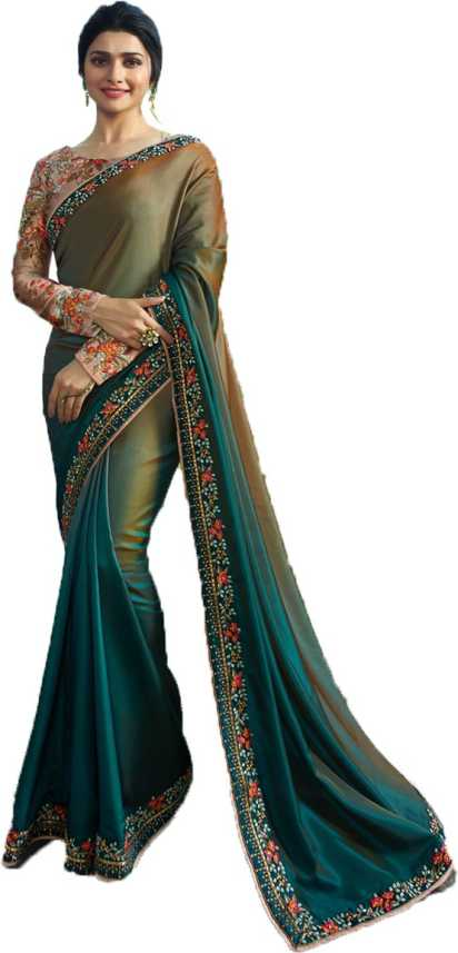 Buy SULEKHA FAB Self Design Fashion Satin Blend Grey Sarees Online