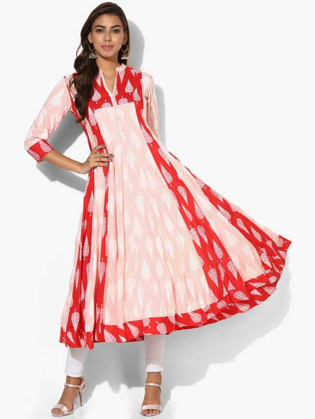 5f10c655469 Sangria Women Printed Anarkali Kurta - Buy Sangria Women Printed ...
