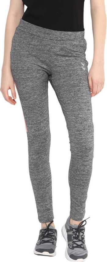 548fad1f04c HUMMEL Self Design Women Grey Tights - Buy HUMMEL Self Design Women ...