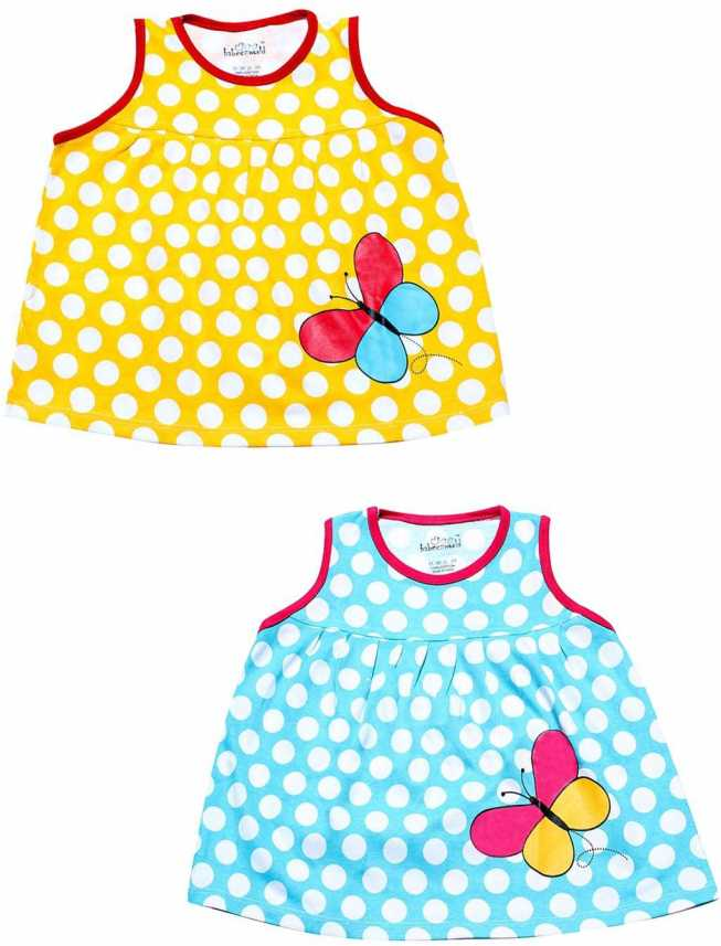 8e193b685 Babeezworld Girls Midi/Knee Length Casual Dress (Multicolor, Sleeveless)