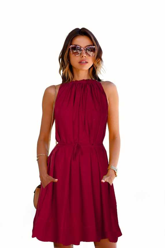 67b4dea5be DSM SURAT Women Skater Maroon Dress - Buy DSM SURAT Women Skater Maroon  Dress Online at Best Prices in India | Flipkart.com