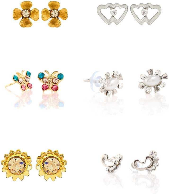 Goldnera Kids Fashion Jewellery Small Studs Earrings Baby Designs Br Stud Earring