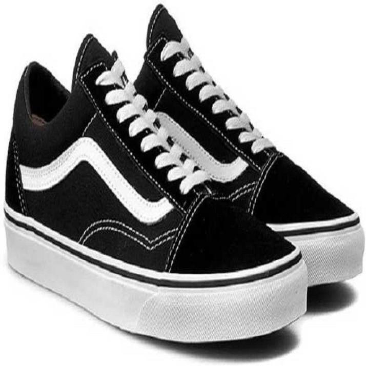 vans old skool black sneakers india