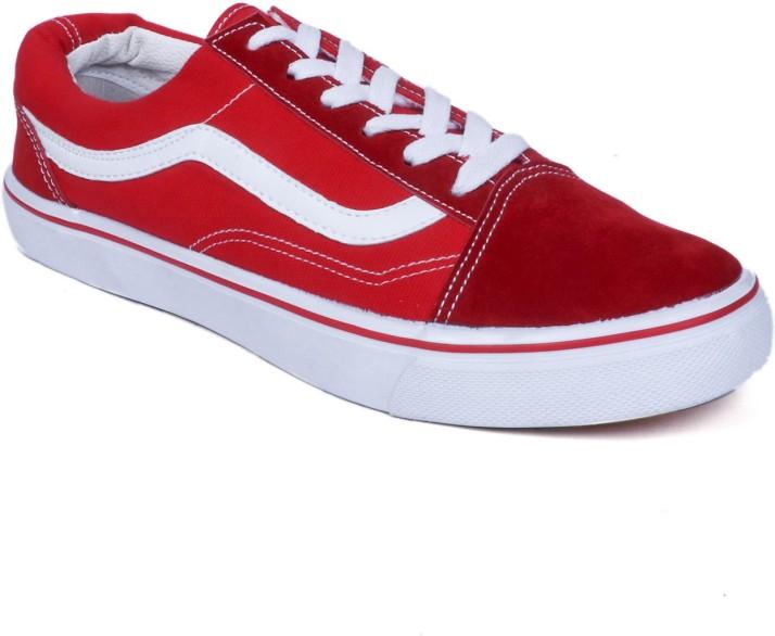 vans old skool Gunners Red Sneakers For
