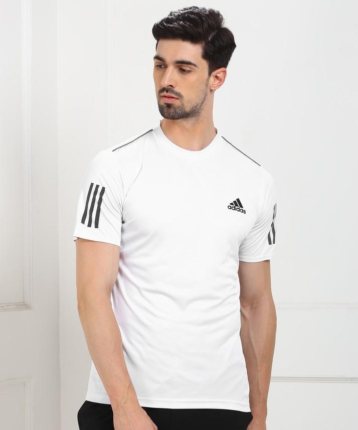 adidas white t shirt mens