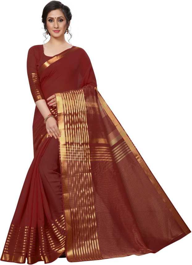 2784ed1b00f1 Buy Anni Designer Printed Fashion Khadi Silk Maroon Sarees Online ...