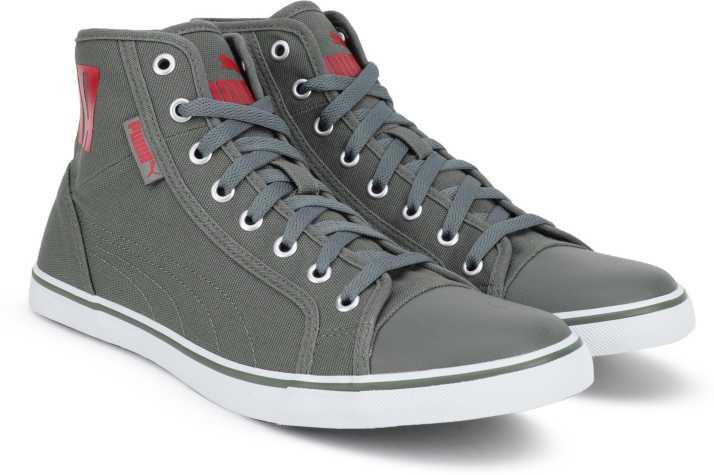 Puma Men's Streetballer Mid Puma Black White Silver Sneakers