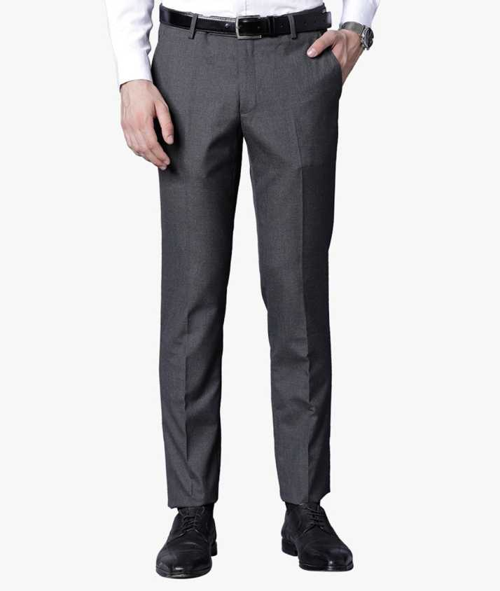 0f2a6b0415a Black Coffee Slim Fit Men Grey Trousers - Buy Black Coffee Slim Fit Men  Grey Trousers Online at Best Prices in India | Flipkart.com