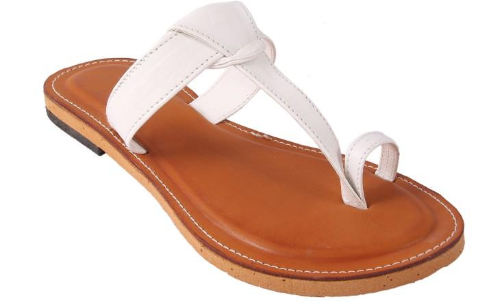 Buy Gerief Women White Flats Online at