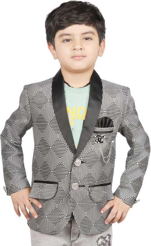 339425d419597 SG YUVRAJ Self Design Tuxedo Style Festive Boys Blazer - Buy SG ...
