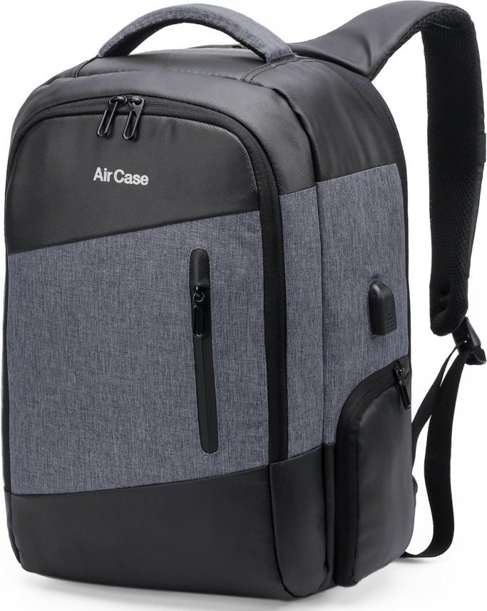 High Quality Waterproof Anti-theft Slim Laptop Tablet Backpack w// USB port Black