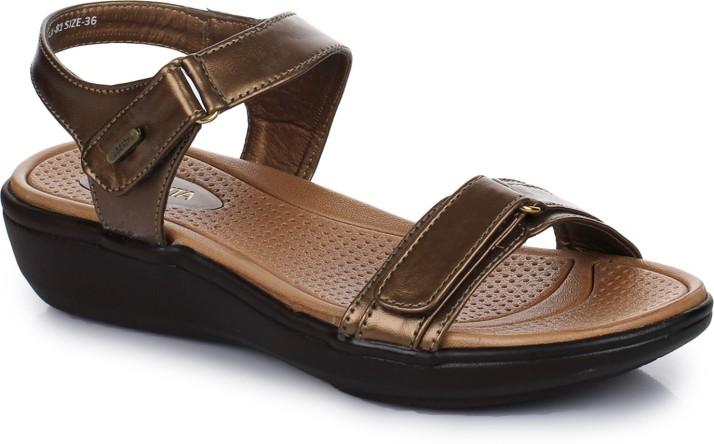 Liberty JL-81 Women Gold Sandals - Buy