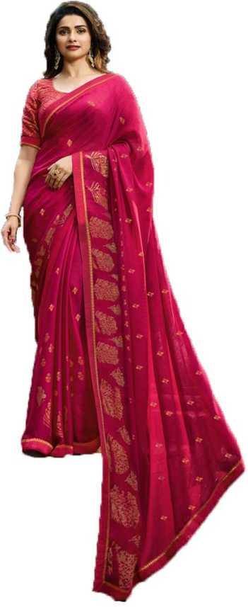 8f2ca82194 Buy VEER NX Printed Bollywood Pure Silk Pink Sarees Online @ Best ...