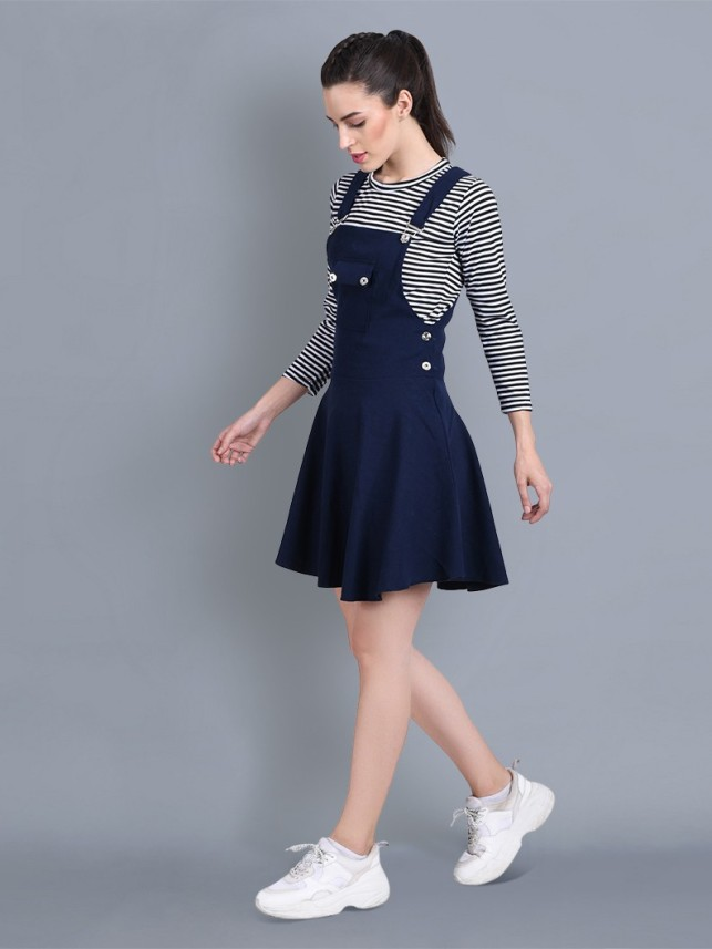 New Look Womens Relaxed Bust Knee Dungarees