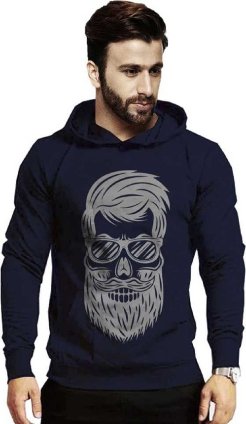 Mens Hooded Sweatshirt Original Literary Design Boxing Gloves Logo Gray XL