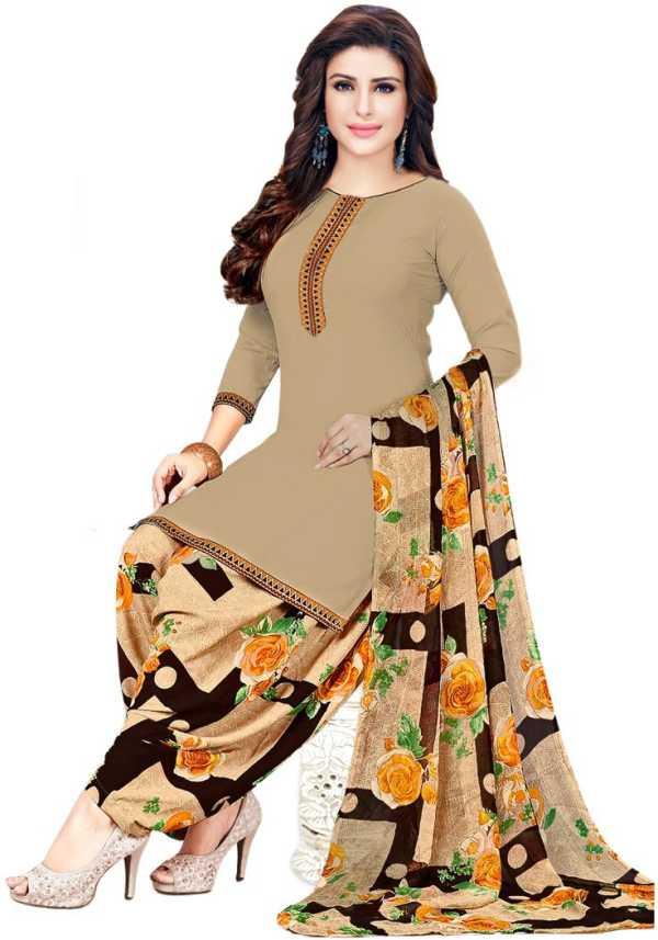 c774b67ef7 Saara Poly Crepe Printed, Floral Print Salwar Suit Material (Unstitched)