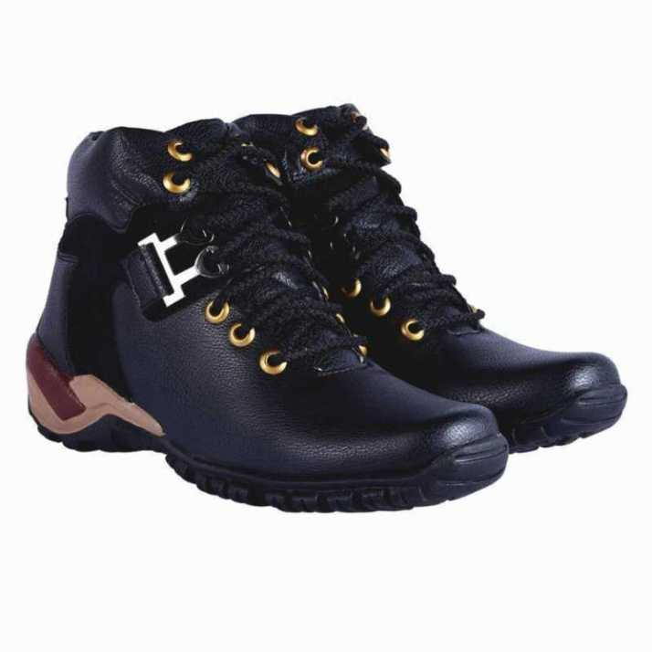 c4861a32010 DLS black casual party wear boots shoes for men's Boots For Men