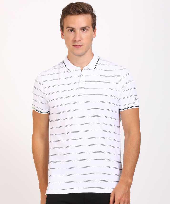 31bd6f7d34ac Kappa Striped Men Polo Neck White T-Shirt - Buy Kappa Striped Men ...