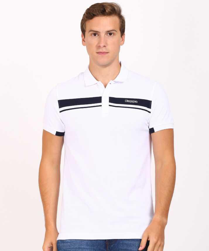 c24f15f2523a Kappa Solid Men Polo Neck White T-Shirt - Buy Kappa Solid Men Polo ...