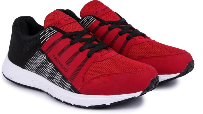 SEGA BlackRed Marathon Walking Shoes