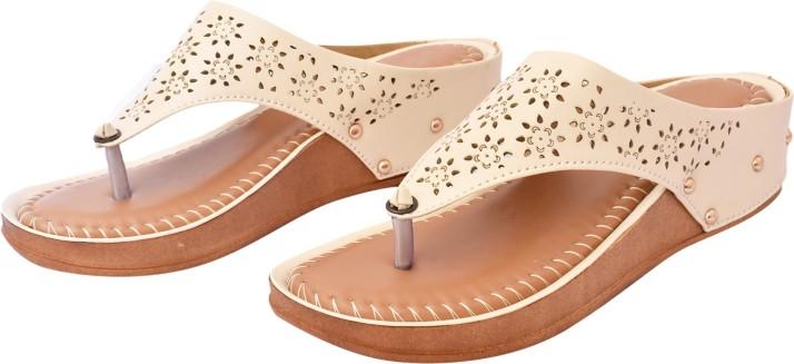 KAYOKSH Women Beige Flats - Buy KAYOKSH
