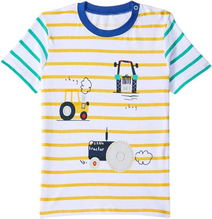 Jumping Meters By Hopscotch Boys Striped Pure Cotton T Shirt Price