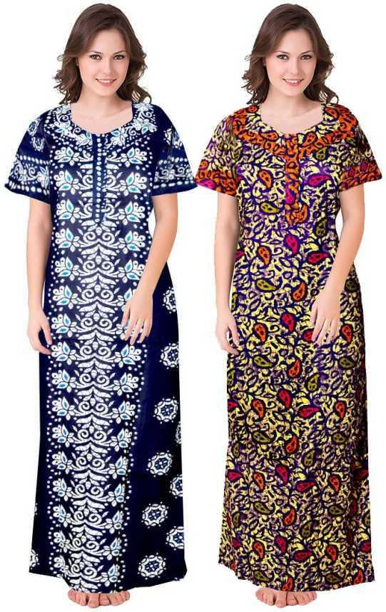 Khushi Print Women Nighty - Buy Khushi Print Women Nighty Online at