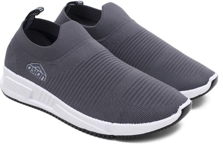 Slip On Mens Breathable Sock Shoes Knitted Mesh Personality Sports Walk Sneakers