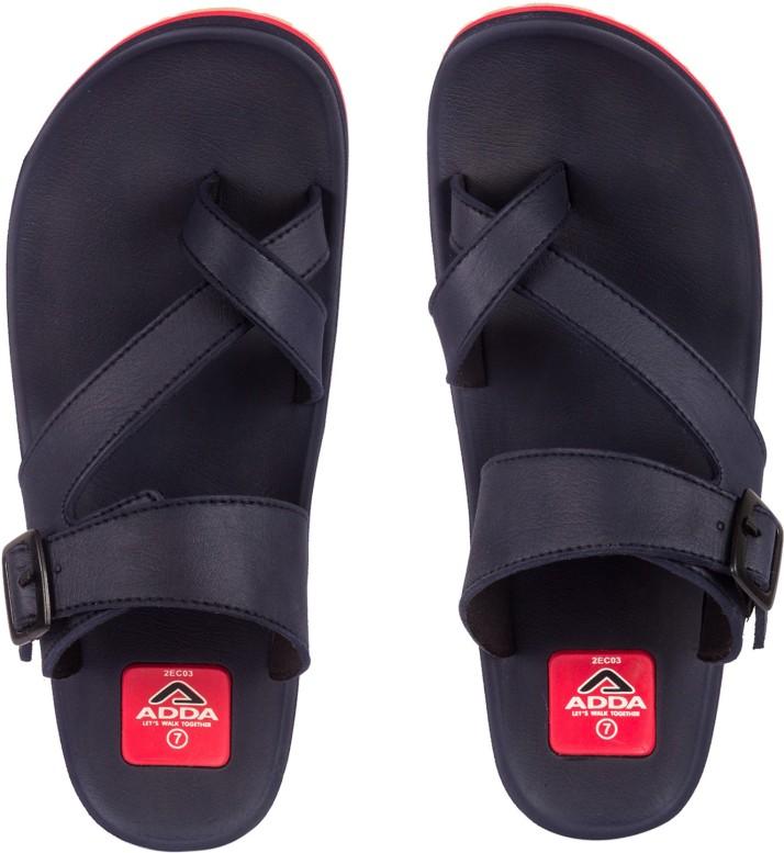 Adda Flip Flops - Buy Navy Red Color