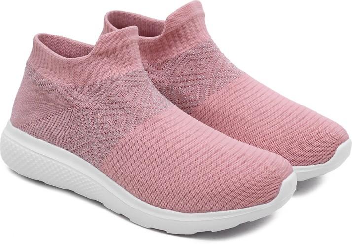 Sneakers Boys Girls Athletic Slip On Trainers Flyknit Soild Running Sock Shoes